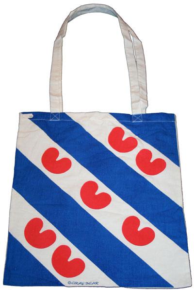 Tas mei Fryske flaggeprint