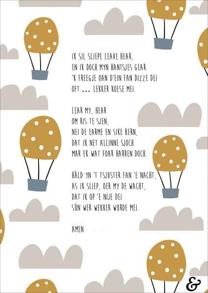 friese kaart: ik sil sliepe