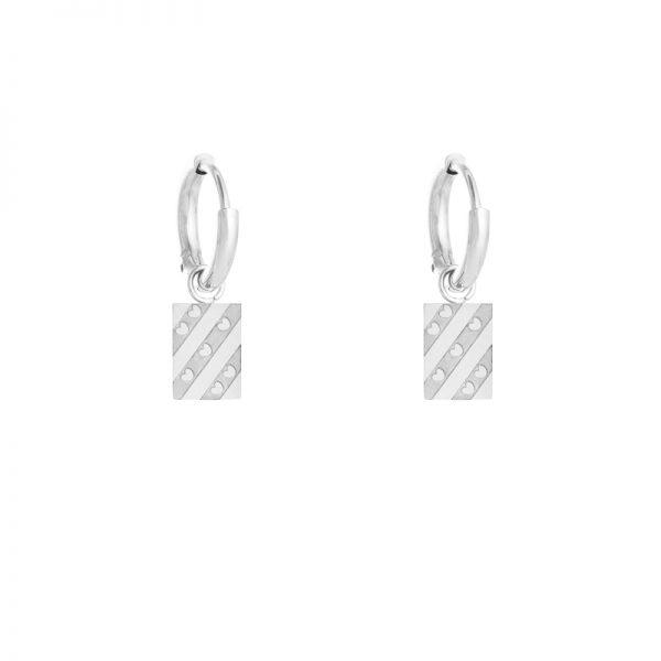 Fryske flag earbel silver