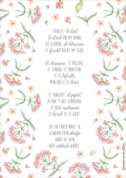 Gedicht: tefolle, te lûd