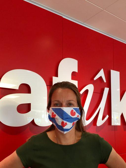 Mûlekap Fryske flagge