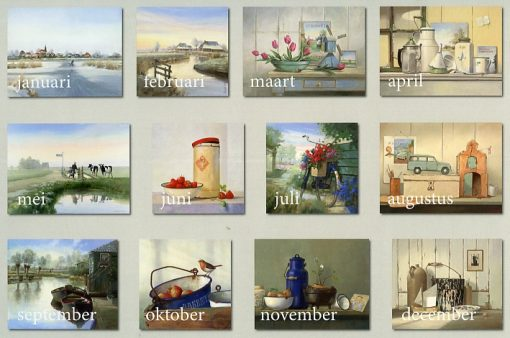 Kunstkalender Sietse Wiersma achter
